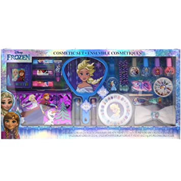 Townley Girl Disney's Frozen Cosmetic Set for Girls, Nail Polish, Lip  Gloss, Hair Accessories, Mirror
