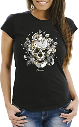 t-shirt tête de mort femme 15