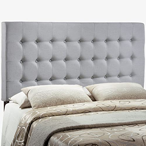 Modway Tinble Tufted Button Linen Fabric Upholstered Queen Headboard