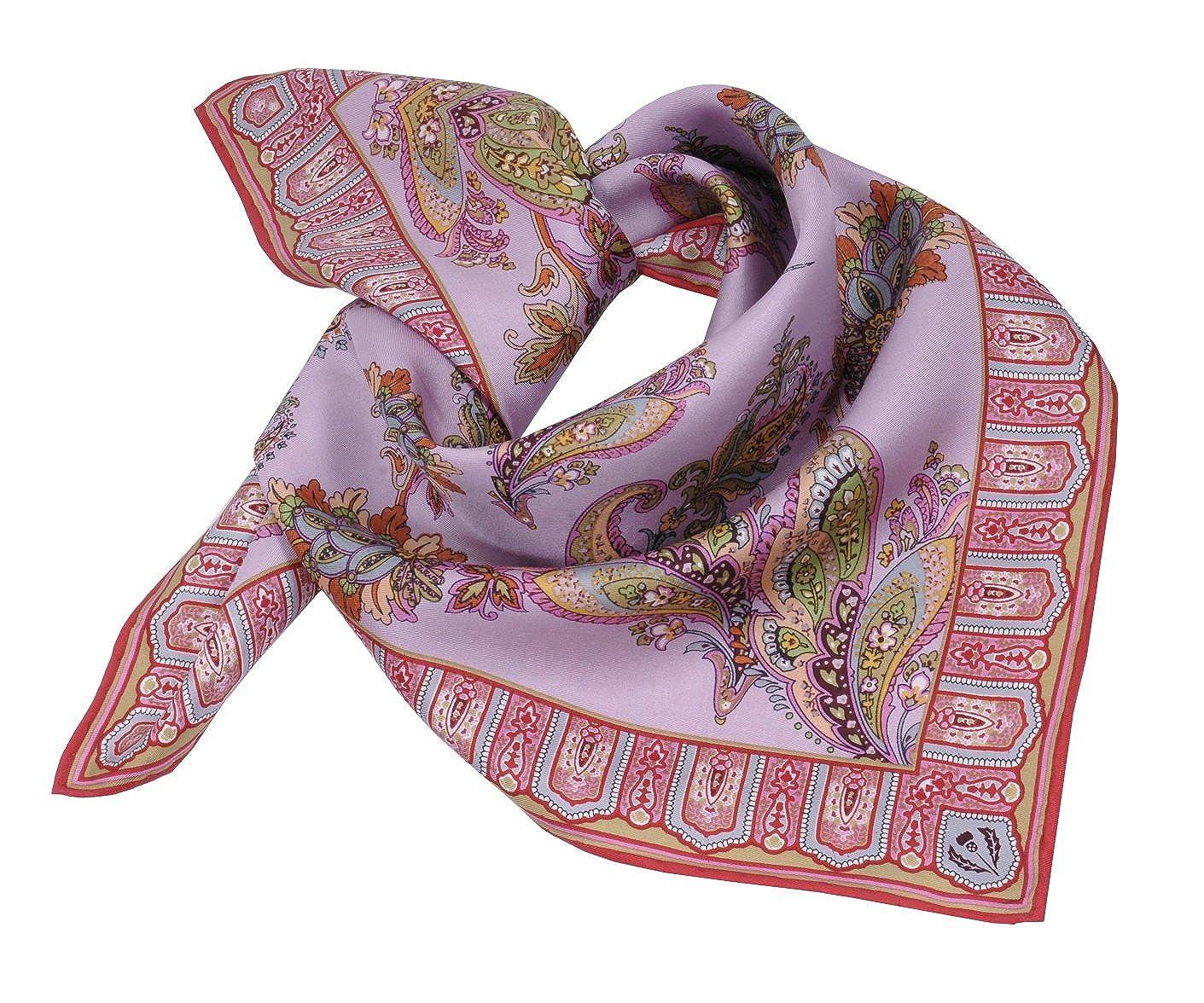 Moschen-Bayern Damen Trachtenhalstuch Halstuch Seide Rosa Pink