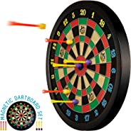Doinkit Darts Kid-Safe Indoor Magnetic Dart Board - Easy to Hang, Fun to Play, No Holes in Walls, Includes Board and 6 Uniqu