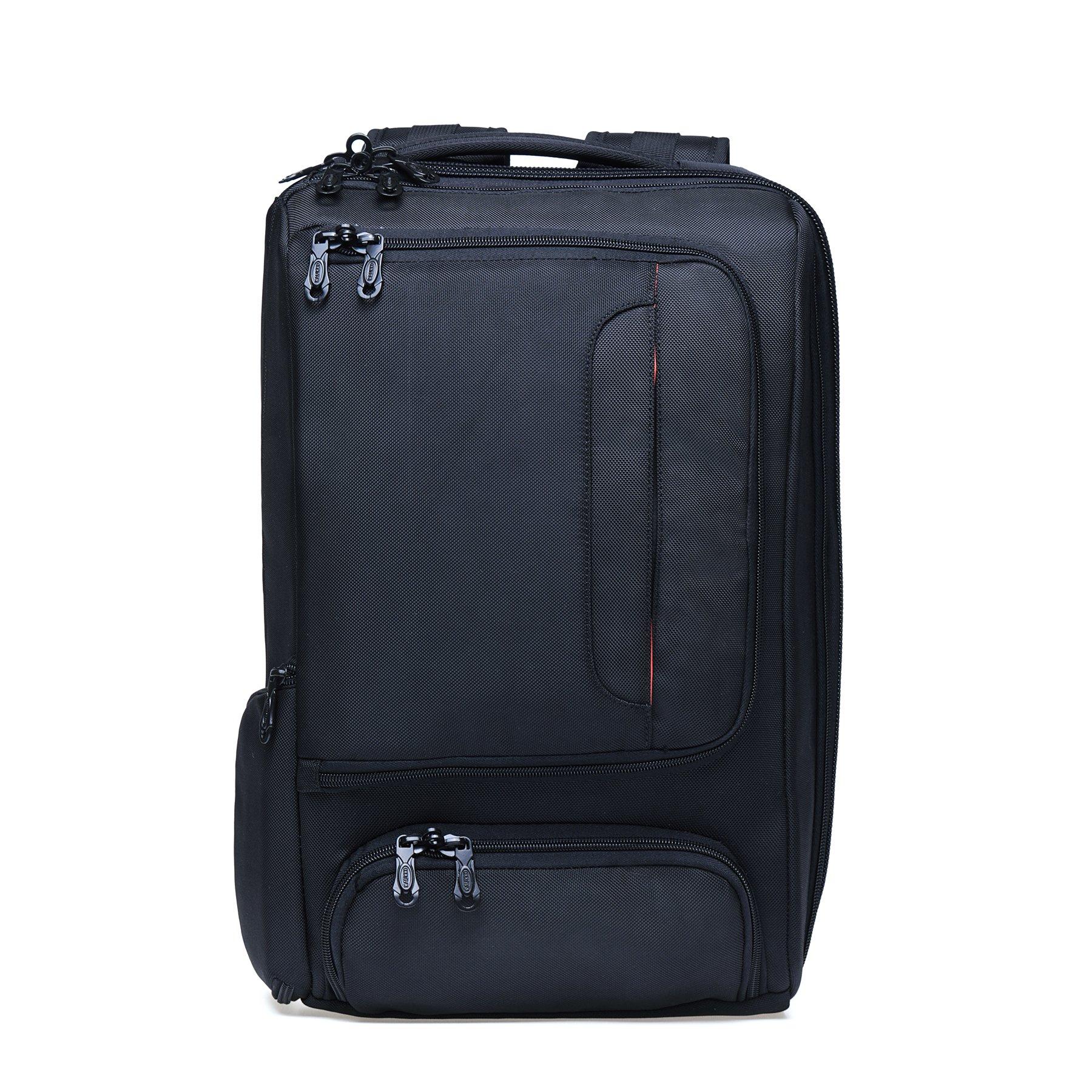 KAUKKO Laptop Outdoor Backpack, Travel Hiking& Camping Rucksack Pack, Casual Large College School Daypack, Shoulder Book Bags Back Fits 15'' Laptop & Tablets (4Black) by KAUKKO (Image #3)