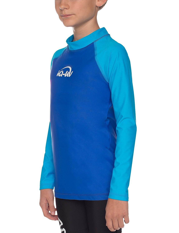 Abbigliamento Protettivo UV Unisex Bambini 164//170 Blusa Youngster Manica Lunga iQ-UV 7361303442-r164 Hawaii//Blu