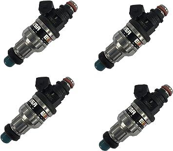 4 Fuel Injector for 92-96 Honda B16 B18 B20 D16 D18 F22 H22 H22A VTEC 550CC 1set
