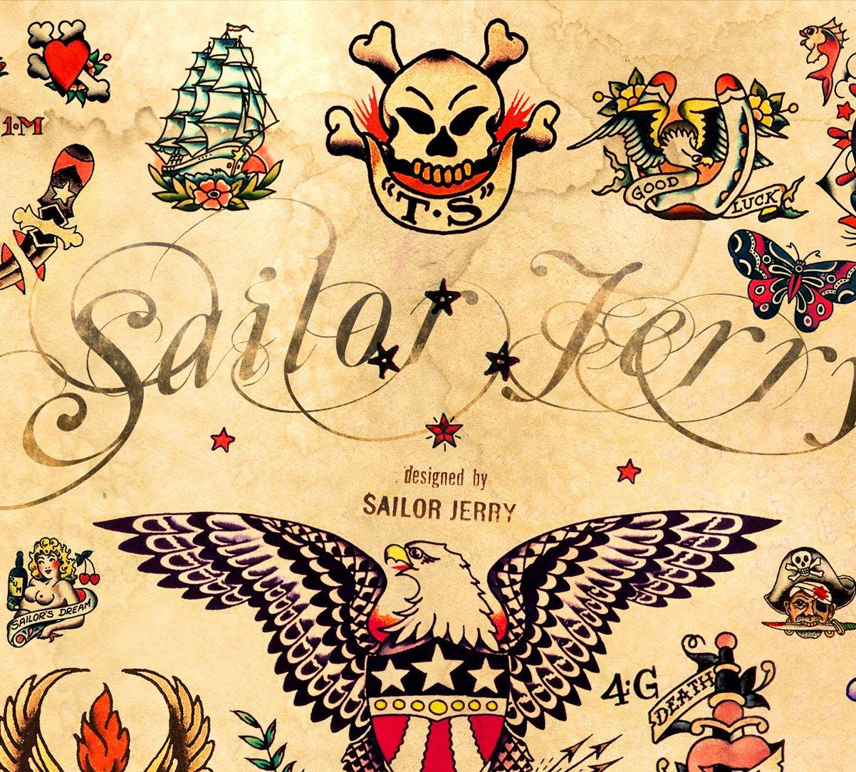 Amazon.com: 3 - Sailor Jerry Tattoo Flash Posters 12\
