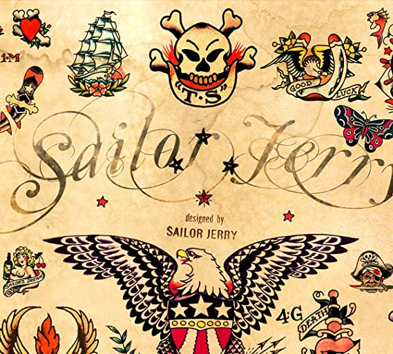 Amazon.com: 3 - Sailor Jerry Tattoo Flash Posters 12\