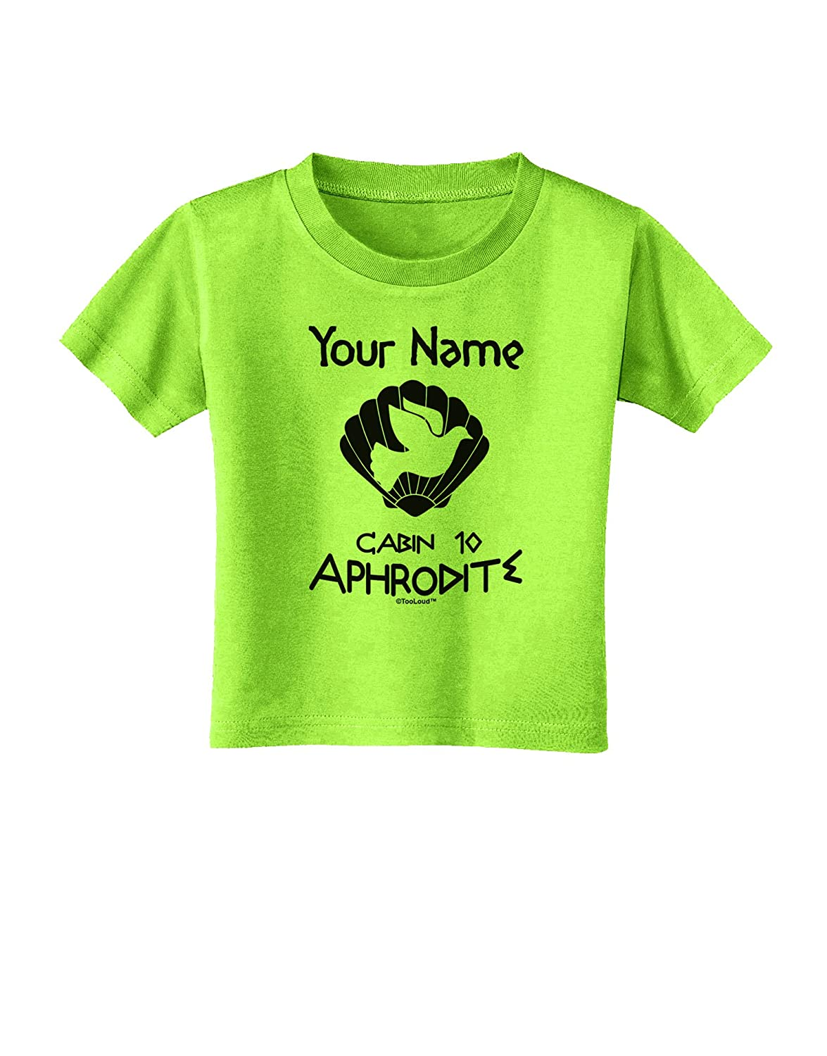 TooLoud Personalized Cabin 10 Aphrodite Toddler T-Shirt