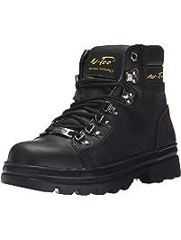 "Adtec Womens Women's 6"" Steel Toe Work Boot Black-w Work Boot"
