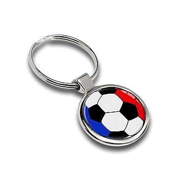 Llavero de fútbol balón Bandera Francia France metal Keyring ...