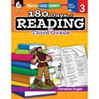 180 Days of Reading for Third Grade (Ages 7 - 9) Easy-to-Use 3rd Grade Workbook to Improve Reading Comprehension Quickly, Fun Daily Phonics Practice for 3rd grade reading