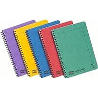 Europa Notemaker 4850 Lot de 10 cahiers à reliure intégrale Format A5 120 pages lignées 80 g/m² Couleurs assorties