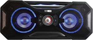 Altec Lansing Mix 2.0 - Bluetooth Speaker, Wireless, Waterproof, Floatable, Portable, Speakers, Loud Volume, Strong Bass, Rich Stereo System, 100 ft Wireless Range, IP67, Black with Lights