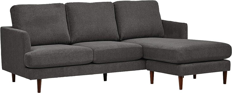 Rivet Goodwin Modern Sectional Sofa, 88.6\
