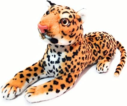 PATNA Sitting Cheetah Animal Stuffed Soft Plush Toy with Strong Hard Head for Kids (Multicolour, 34 cm)