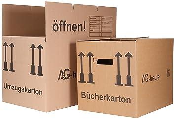 Bajo para mudanza Juego: 25 Move Box 2 ondulaciones + 5 cajas de cartón para