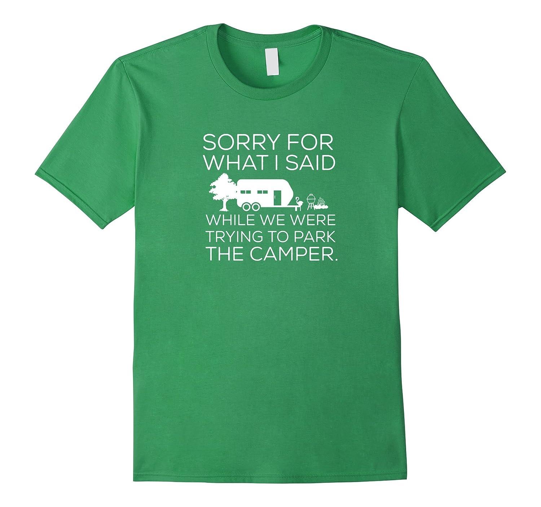 Mens Sorry Camping Shirt Heather-Awarplus