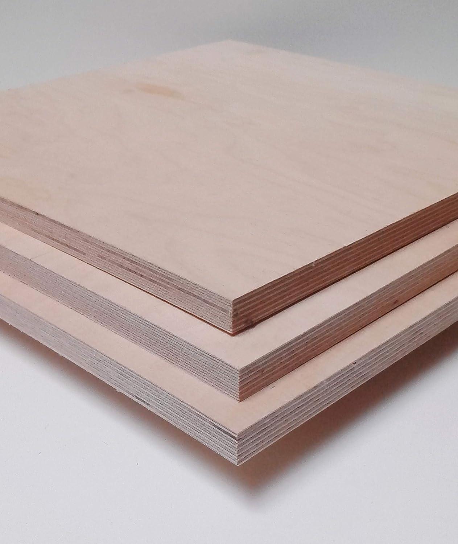 18mm starke Multiplex Sperrholzplatten Holzplatten beste Qualit/ät Sonderma/ße. 100x100mm