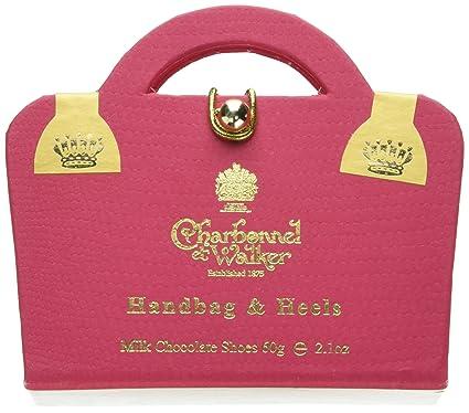 6d4abb739e Charbonnel et Walker Milk Chocolate Shoes in Pink Handbag Box 60 g ...