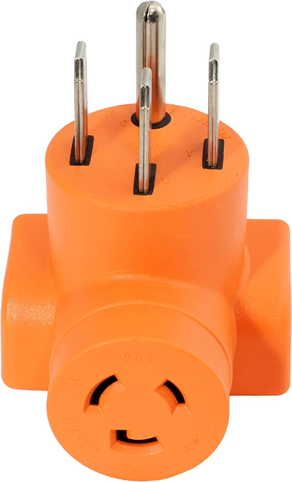 PDU 3PRONG L6-30R RECEPTACLE to 4PIN NEMA14-50P EV PLUG POWER CORD ADAPTER