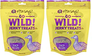 product image for ETTA SAYS! Go Wild Jerky Treats for Dogs – Pack of 2 – Made in The USA, Single Source Protein, Grain-Free, Glycerin-Free