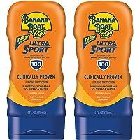 Banana Boat Ultra Sport Sunscreen Lotion, New Formula, SPF 100, 4 Ounces (Pack of 2)