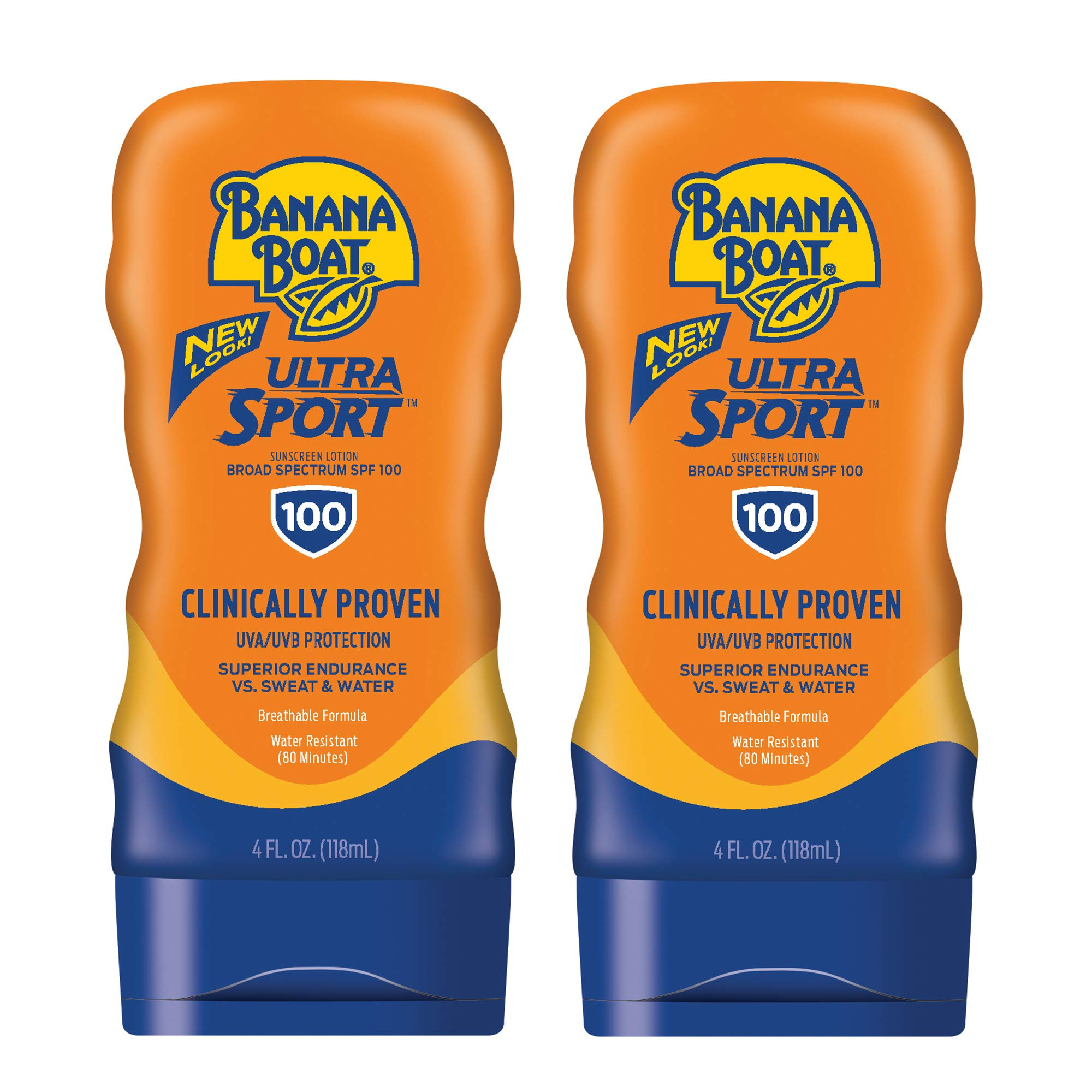 Banana Boat Ultra Sport Sunscreen Lotion, New Formula, SPF 100, 4 Ounces (Pack of 2) by Banana Boat