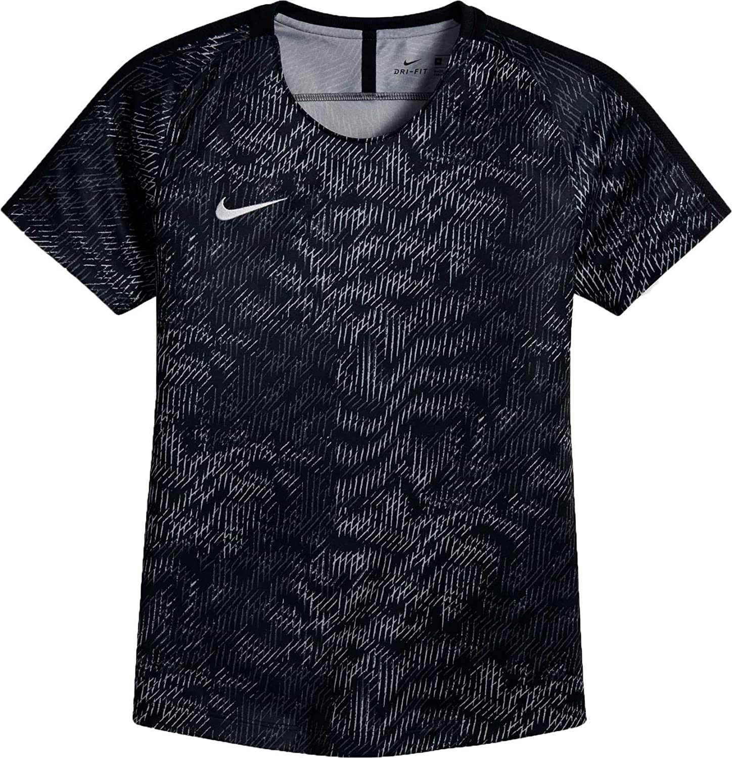 Nike Girls ' Dry AcademyサッカーTシャツ B0798L8FZ6 X-Small|Darkgrey/White/Black Darkgrey/White/Black X-Small