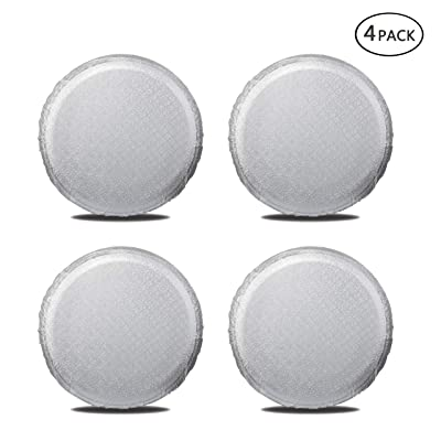 "Moonet Tire Covers for RV Wheel (4 Pack Silver), Oxford Waterproof UV Sun Protectors for Motorhome Boat Trailer Camper Van SUV,D66cm x H28cm for Diameter 24""-26"": Automotive"