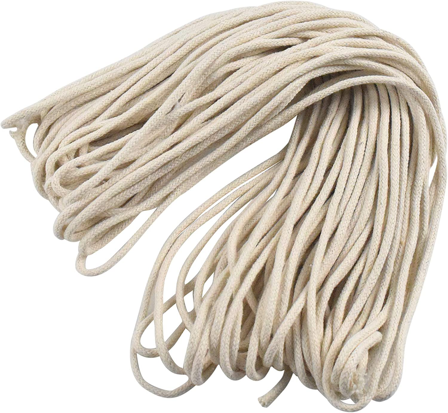 Length 82 ft//Roll Lamp Wick Round Cotton Wick Braided Oil Lamp Wire Light Wick Kerosene Wick Lantern Wick for Oil Burners Candle Wick Cotton Replacement Wick Diameter 0.19 inch