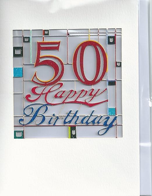 50th Tarjeta de cumpleaños para: Amazon.es: Hogar