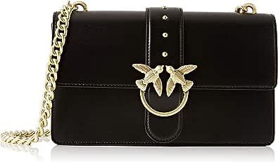 Pinko Love Simply 11 Catena, Bolsa de mensajero para Mujer, negro, 7.5x16.5x27 centimeters (W x H x L)