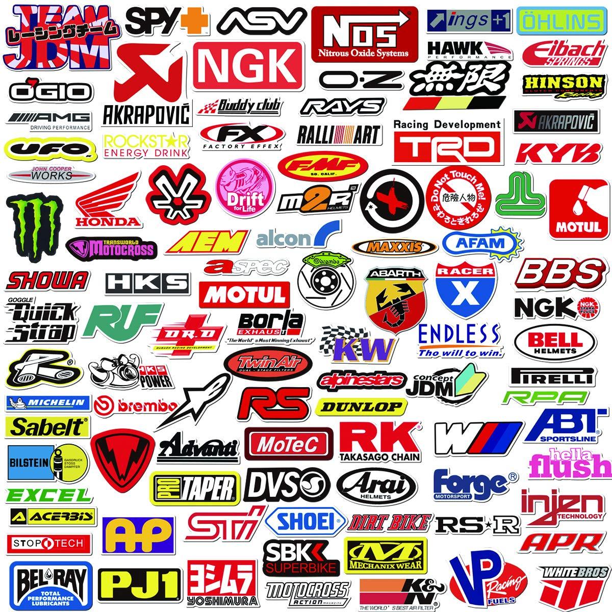 Pop sticker car moto modified brand logo series sticker pack 103 pcs vinyl stickers for laptopcarmotoskateboardbikeluggageiphone graffiti decal