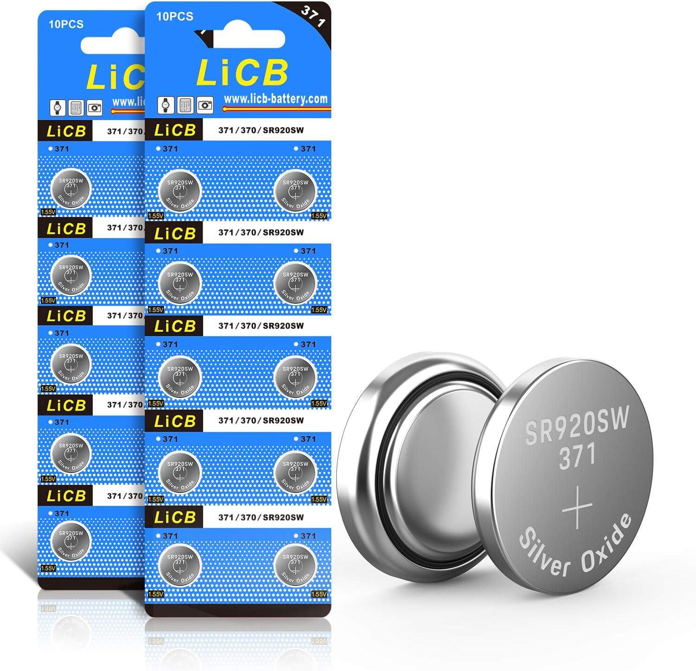 Licb 20 Stück Sr920sw Batterien Uhrenbatterie 371 V371 Elektronik