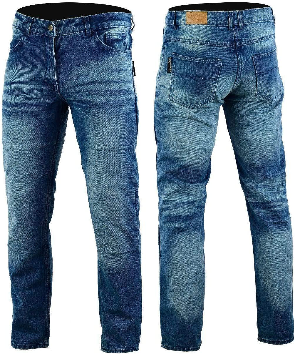 Bikers Gear Australia Kevlar Lined Motorcycle Jeans With Removable Protectors Ce 1621 1 S Stone Wash Denim Auto