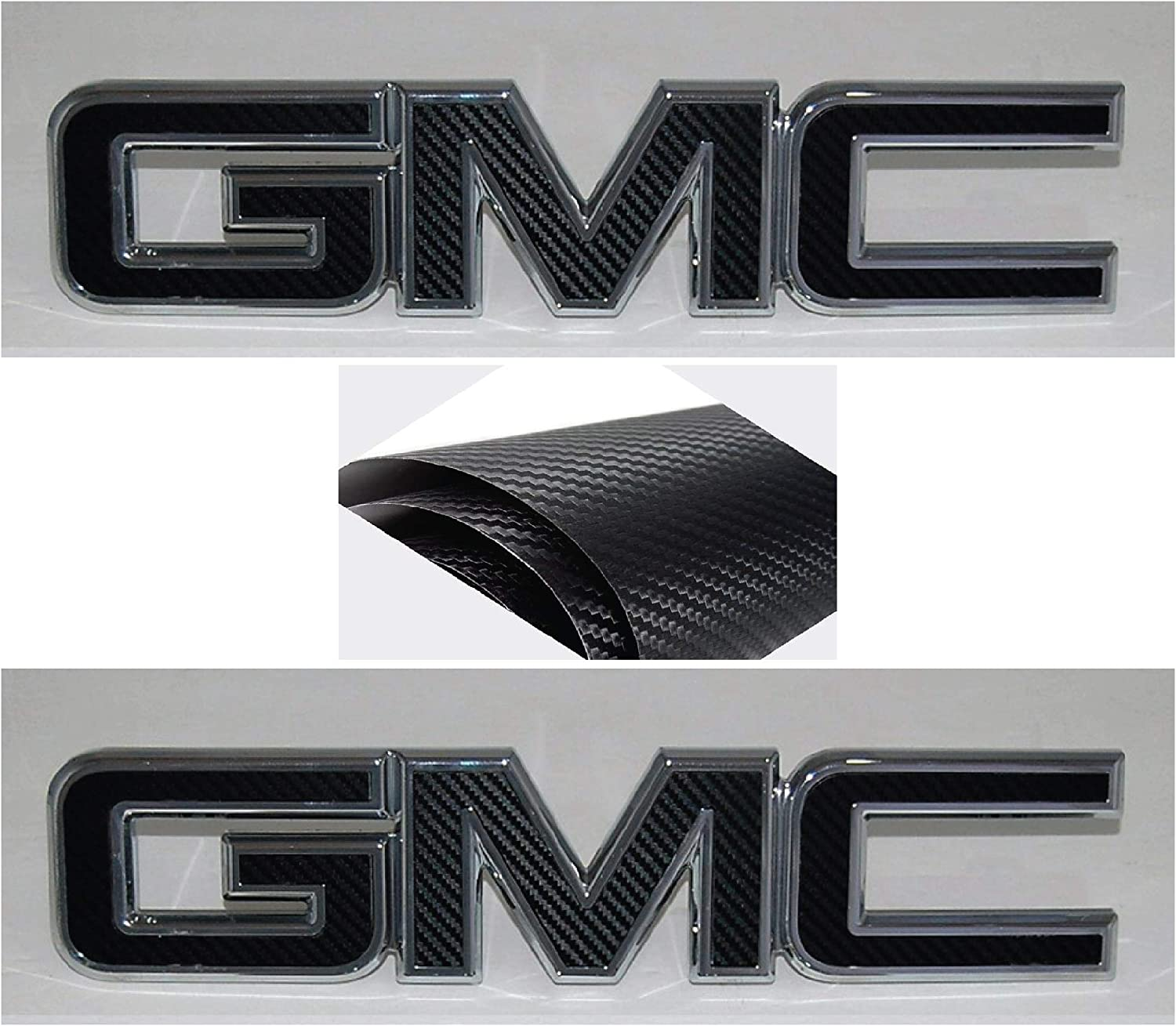 DIY Acadia Terrain || 3M BLACK CARBON FIBER 2007-2017 GMC FRONT and REAR Emblem Overlay Kit || Cut Your Own 2 KITS Plus 1 Extra Overlay Sheet Sierra Denali NOT A PRE/_CUT SHAPE || Yukon