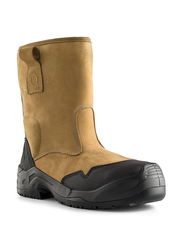 Original Roots RO60302 Cheyenne - Stiefel de seguridad para hombre, Größe 10, Farbe braun
