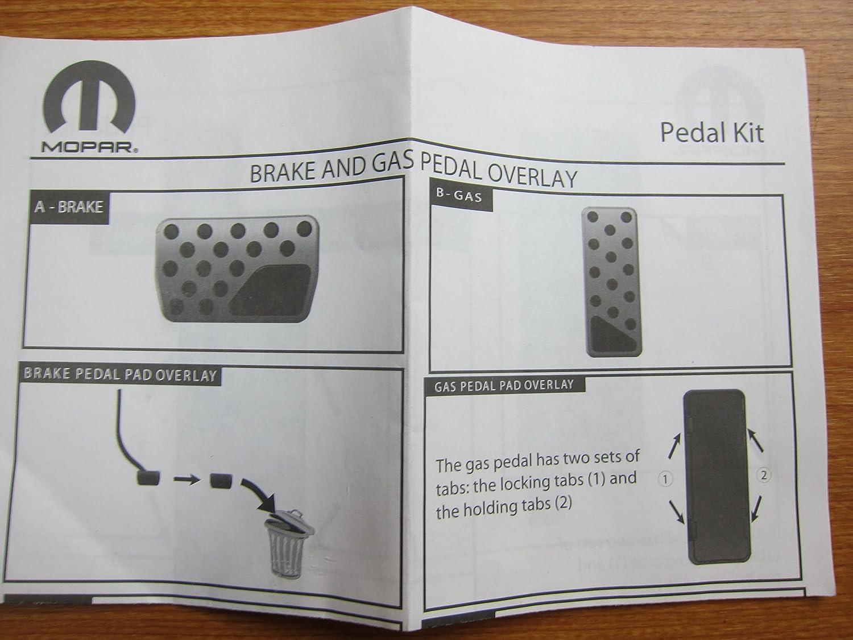 Dodge Ram 1500 2500 3500 4500 5500 Mopar Gas Accelerater /& Brake Pedal Kit OEM 82212138AB
