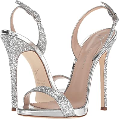 5375326051c Amazon.com  Giuseppe Zanotti Women s Sophie Blytter Argento 36.5 M EU  Shoes