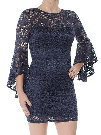 c79dc32b1823d Amazon.com: Trixxi Juniors Bell-Sleeve Lace Dress: Clothing