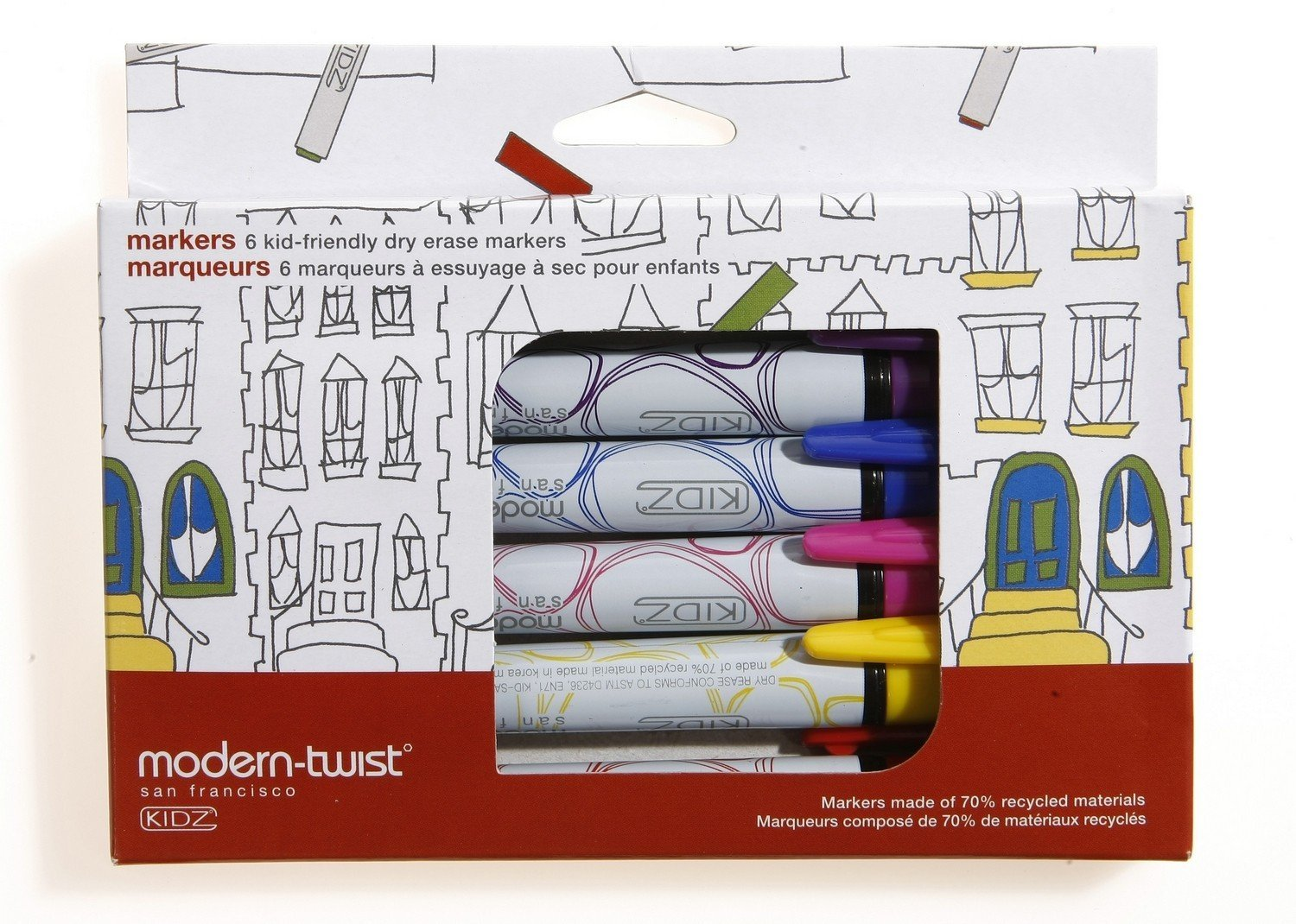 modern-twist Kids Mark-Mat Silicone Coloring Placemat with 6 Dry-Erase Markers, Space Animals by modern-twist (Image #2)