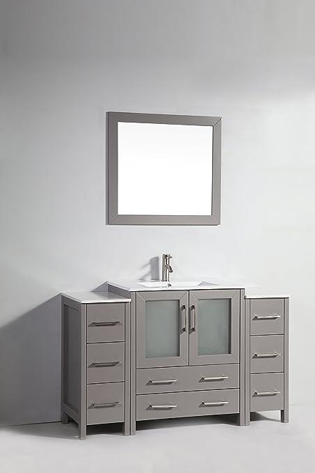 Vanity Art 54 inch Single Sink Bathroom Vanity Set with Ceramic Top on 70 inch single sink bathroom vanity, 65 inch single sink bathroom vanity, 78 inch single sink bathroom vanity, 30 inch single sink bathroom vanity, 55 inch single sink bathroom vanity, 50 inch single sink bathroom vanity, 60 inch single sink bathroom vanity,