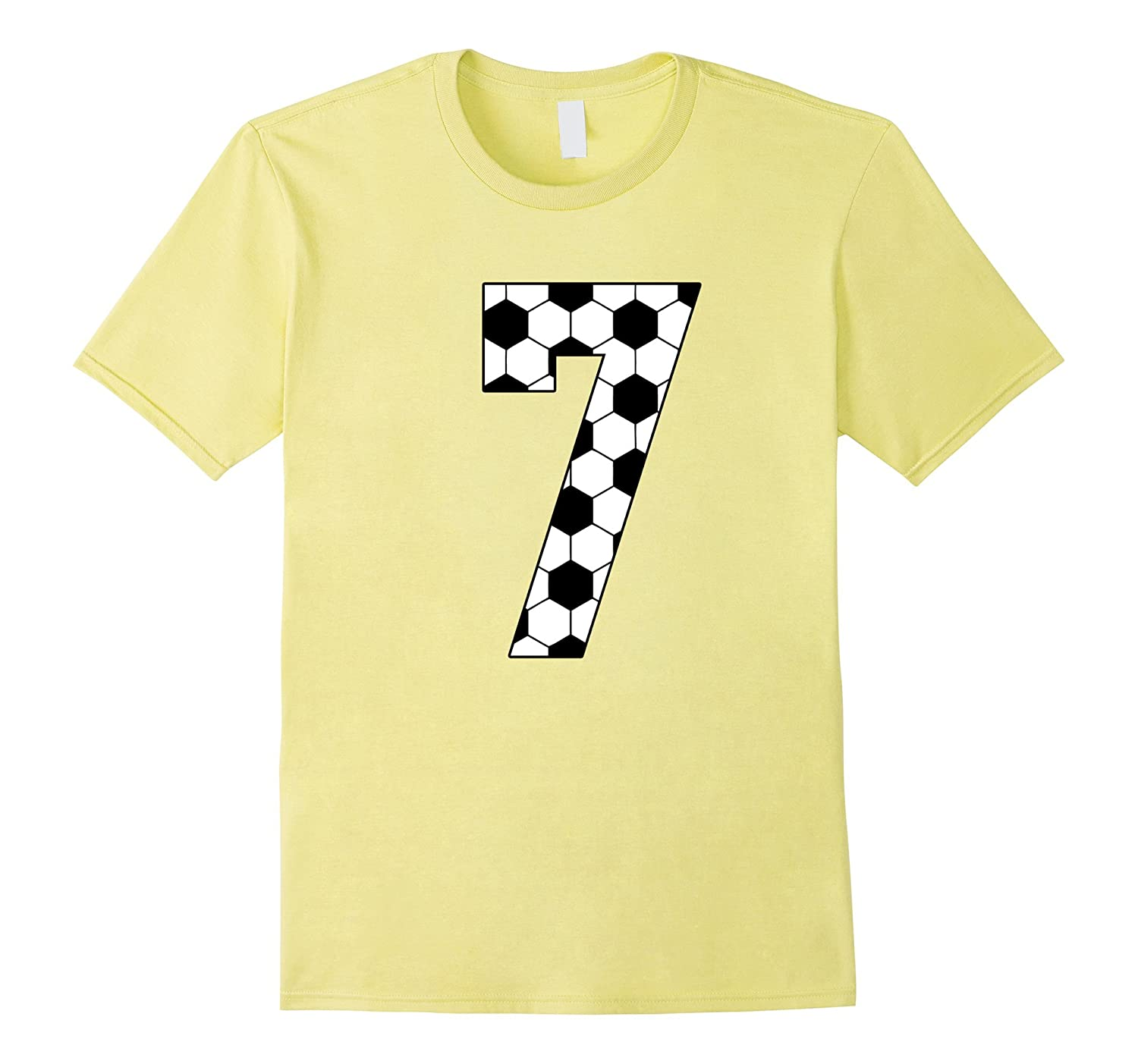 Number 7 Soccer 7th Birthday T Shirt Seven Years RT