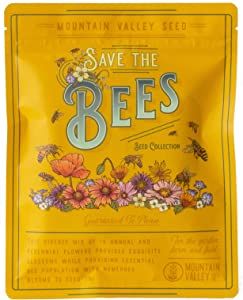 Package of 80,000 Wildflower Seeds - Save The Bees Wild Flower Seeds Collection - 19 Varieties of Pure Non-GMO Flower Seeds for Planting Including Milkweed, Poppy, and Lupine