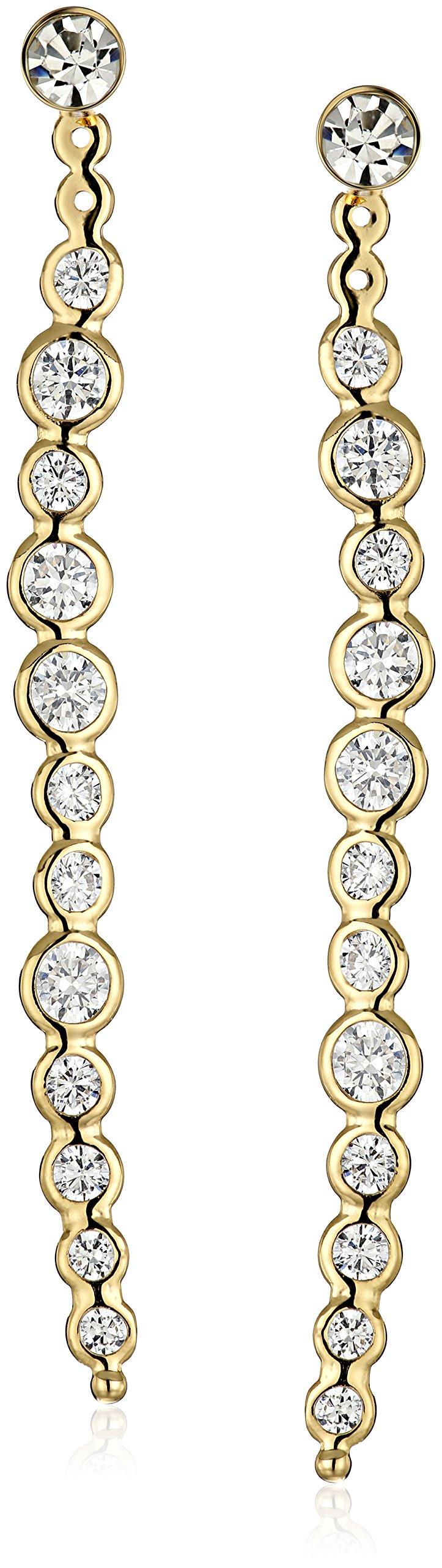 kate spade new york''Clear As Crystal'' Linear Earrings Jackets