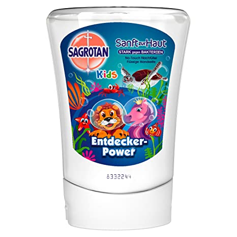 Sagrotan No Touch Kids Después de pluma Entdecker Power Aloe Vera, 5 unidades (5
