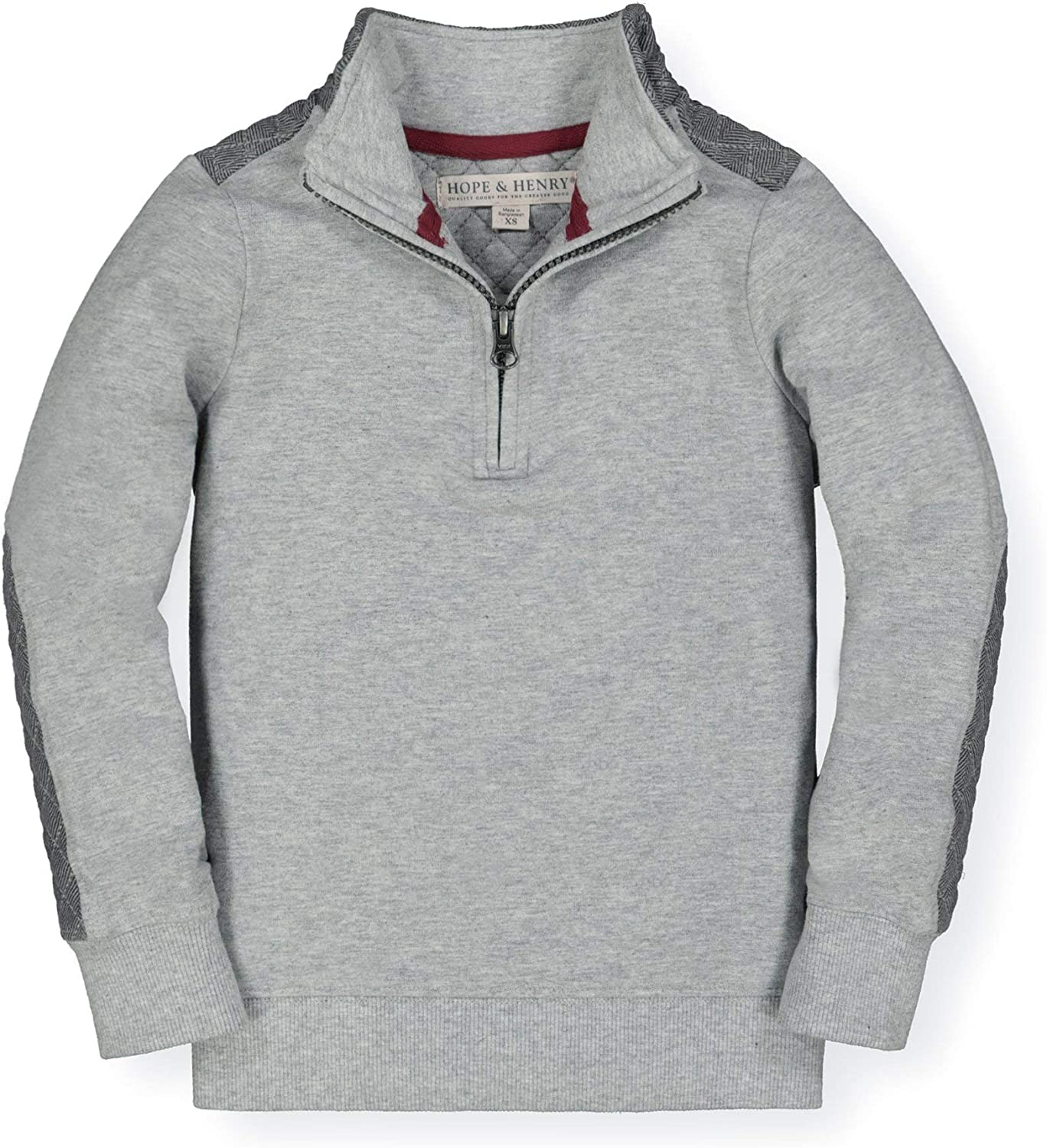 Hope /& Henry Boys Long Sleeve Half-Zip Pullover in French Terry
