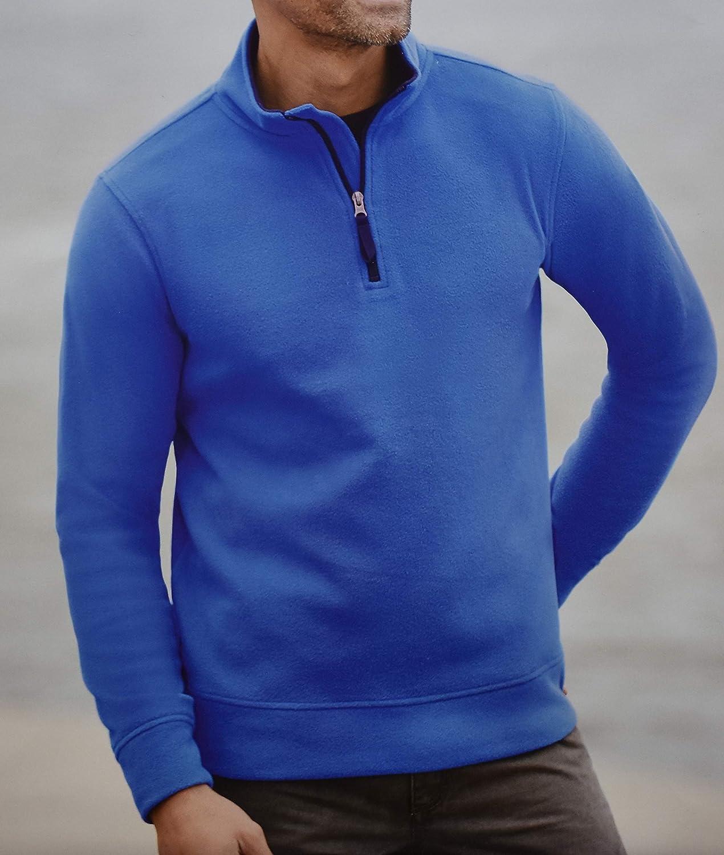 Active Touch Herren Thermo-Fleeceshirt Pullover Fleece Ski Pulli Skipullover Blau M L XL