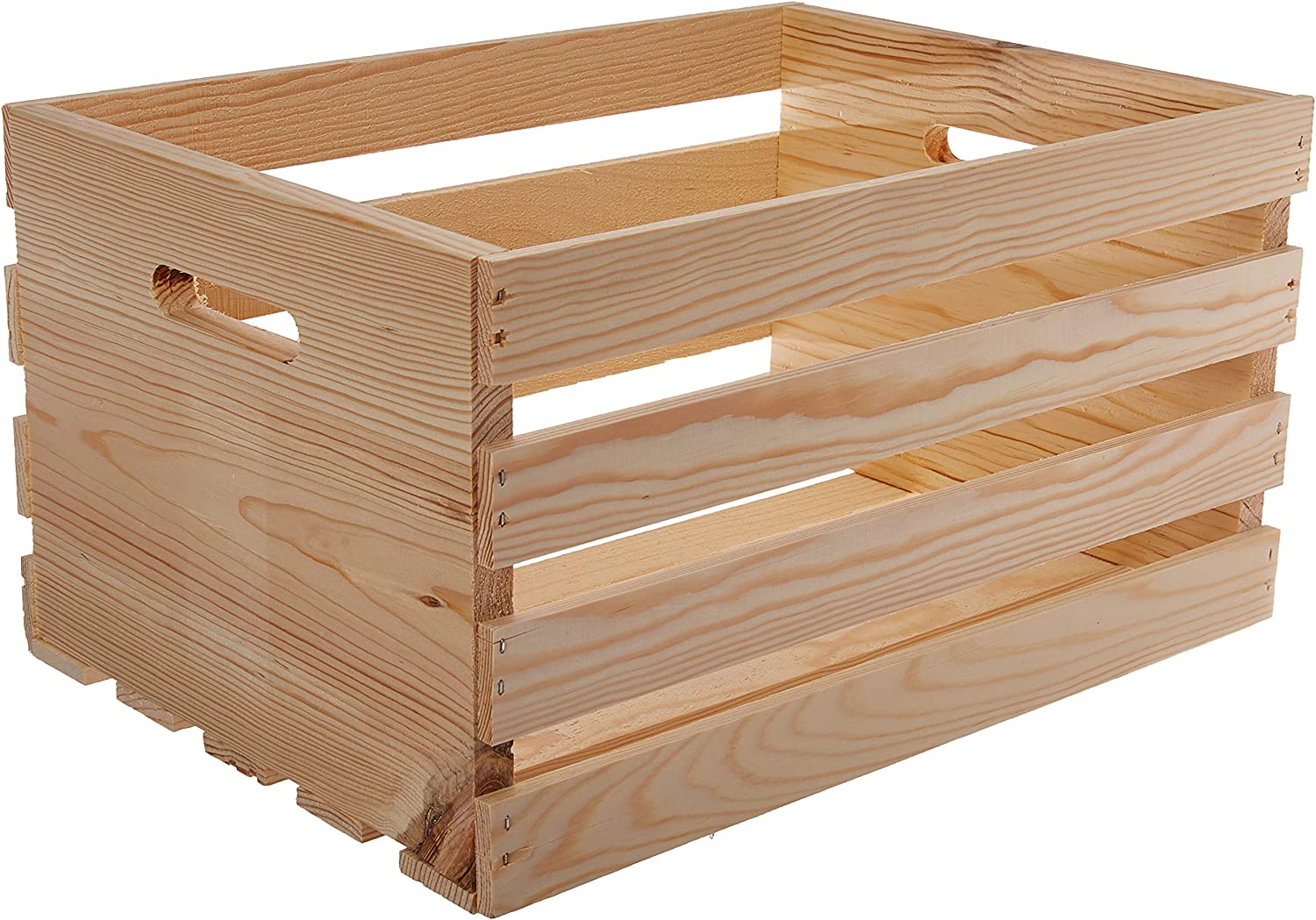 "Amazon.com: Houseworks 67140 18"" Lx12.5 Wx9.5 H Large Crates & Pallet Wood Crate"