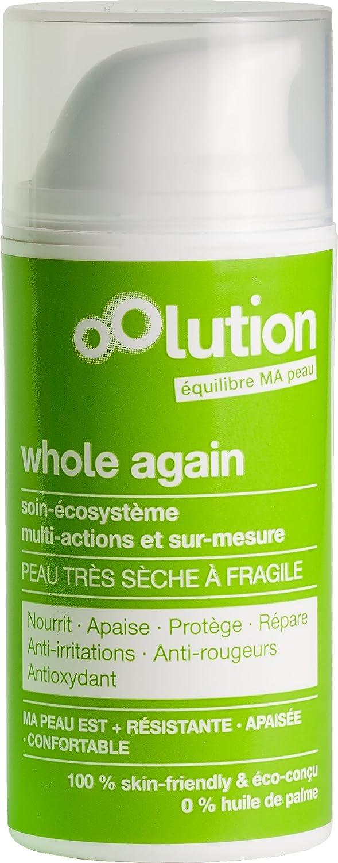 Whole again, soin visage nutrition intense pour peaux très sèches à fragiles - oOlution