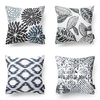 Amazon.com: Juego de 4 fundas de almohada decorativas de la ...